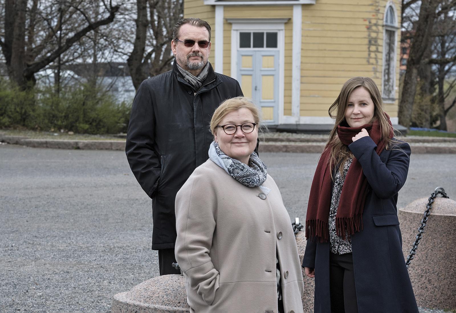 Anne Kovalainen, Seppo Poutanen, Johanna Arvonen